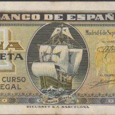 Billetes españoles: BILLETES ESPAÑOLES-ESTADO ESPAÑOL 1 PESETA 9-1940 (SERIE I) (MBC). Lote 69310901