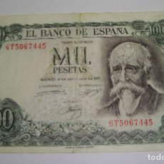 Billetes españoles: 1000 PESETAS. 1971. JOSE ECHEGARAY. SERIE 6T. Lote 69640385