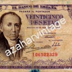 Billetes españoles: 25 PESETAS, FLOREZ ESTRADA, 1946, SERIE I. Lote 69986785
