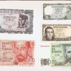 Billetes españoles: PRECIOSO LOTE DE BILLETES PLANCHA LOS DE LA FOTO VER TODOS MIS LOTES DE BILLETES. Lote 70072957