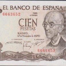 Billetes españoles: BILLETES ESPAÑOLES-ESTADO ESPAÑOL 100 PESETAS 1970 (SIN SERIE) (SC). Lote 70243941
