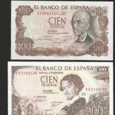 Billetes españoles: LOTE 3 BILLETES ESTADO ESPAÑOL 100 PESETAS 1953/65/70 REF TRUJILLO. Lote 133172871