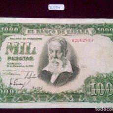 Billets espagnols: 1000 PESETAS SOROLLA, 31 DE DICIMBRE DE 1951. Lote 72880699