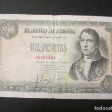 Billetes españoles: 1000 PESETAS DE 1949 SIN SERIE-195 BIEN CONSERVADO. Lote 73053647