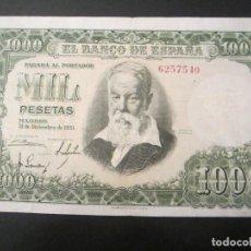 Billetes españoles: 1000 PESETAS DE 1951 SIN SERIE-540 EXCELENTE BIEN CONSERVADO. Lote 73056903
