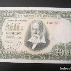Billetes españoles: 1000 PESETAS DE 1951 SERIE A-646 EXCELENTE BIEN CONSERVADO. Lote 73057607