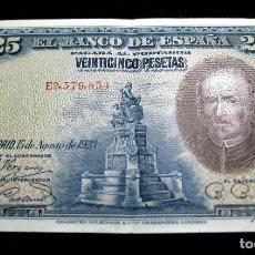 Billetes españoles: ESPAÑA - BILLETE 25 PESETAS 1928 CALDERÓN DE LA BARCA (MBC+). Lote 50997290