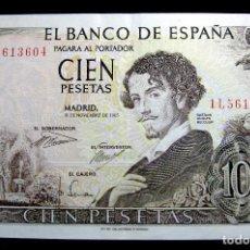 Billetes españoles: BILLETE 100 PESETAS 1965 GUSTAVO ADOLFO BECQUER EBC. Lote 75145791