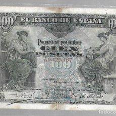Billetes españoles: BILLETE. 100 PESETAS. 1906. MADRID. SERIE A. Lote 75199663