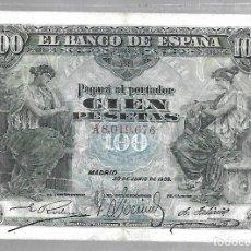 Billetes españoles: BILLETE. 100 PESETAS. 1906. MADRID. SERIE A. Lote 75199711