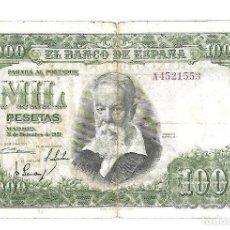 Billetes españoles: BILLETE. 1000 PESETAS. 1951. JOAQUIN SOROLLA. SERIE A. Lote 75282703
