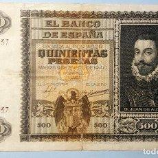 Billetes españoles: BILLETE DE 500 PESETAS 9 DE ENERO DE 1940. Lote 75530227