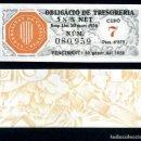 Billetes españoles: CATALUÑA BILLETE OBLIGACION DE 6,875 PESTAS AÑO 1936 SERIE 080959 (GUERRA CIVIL ESPAÑOLA)CUPO 7. Lote 162650556