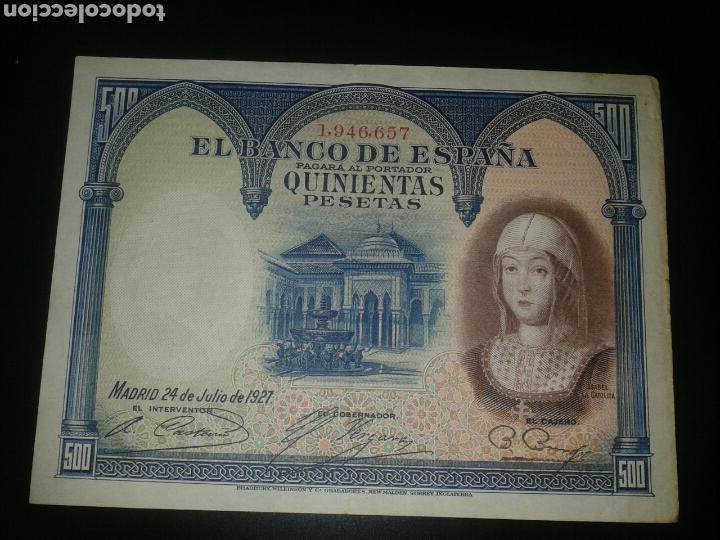 BILLETE 500 PESETAS 4 JULIO 1927 (Numismática - Notafilia - Billetes Españoles)