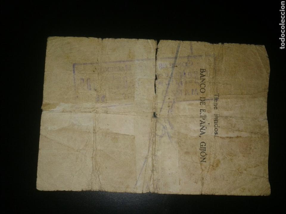 Billetes españoles: Billete de 10 pesetas de 1936 Banco de España en Gijon - Foto 2 - 76618991