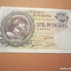 Billetes españoles: 1000 PESETAS DE 1940 OCTUBRE CARLOS I SIN SERIE-194 MUY RARO ASÍ. Lote 76633699