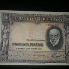 Billetes españoles: BILLETE DE 50 PESETAS DE 22 DE JULIO DE 1935 NUEVO. Lote 77097798