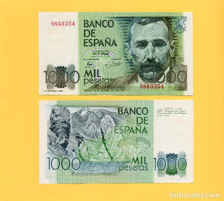BILLETE 1000 PESETAS BANCO ESPAÑA 1979 B PÉREZ GALDOS TEIDE TENERIFE ISLAS CANARIAS. SIN SERIE. SC (Numismática - Notafilia - Billetes Españoles)