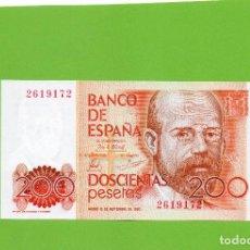 Billetes españoles: BILLETE 200 PESETAS BANCO ESPAÑA. LEOPOLDO ALAS CLARIN. SIN SERIE. SIN CIRCULAR. PLANCHA. Lote 161880274