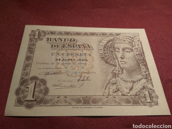 BILLETE UNA PESETA 1948 SC (Numismática - Notafilia - Billetes Españoles)