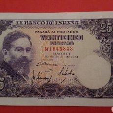 Billetes españoles: 25 PESETAS DE 1954 SC SERIE M1845843 . Lote 79448955