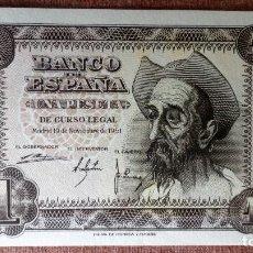 Billetes españoles: DOS BILLETES CORRELATIVOS 1 PESETA , NOVIEMBRE 1951 - PLANCHA, SERIE A. Lote 79659293