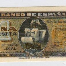 Billetes españoles: BILLETE ESPAÑA - 1 PESETA 4 SEPTIEMBRE 1940 - MUY BUENA CONSERVACIÓN. Lote 80386561