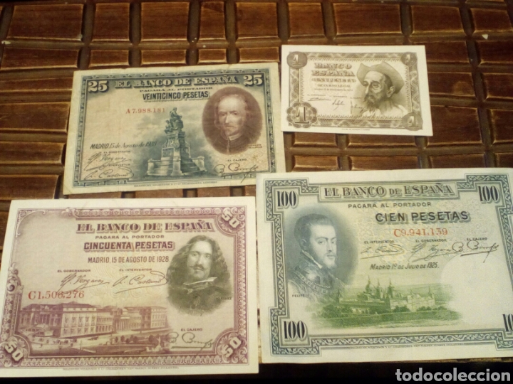 LOTE DE 4 BILLETES (Numismática - Notafilia - Billetes Españoles)