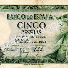 Billetes españoles: 5 PESETAS 22 JULIO 1954 LETRA I. Lote 80938932