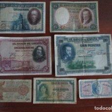 Billetes españoles: 7 BILLETES ESPAÑOLES VEAN FOTOGRAFIAS. Lote 193992648