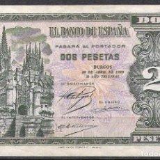 Billetes españoles: 2 PESETAS ABRIL 1938 SERIE M EBC-. Lote 83125620