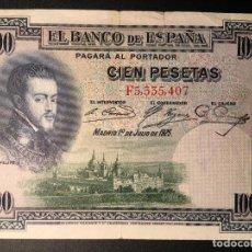Billetes españoles: BILLETE 100 PESETAS 1925. Lote 83855340