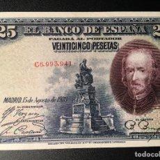 Billetes españoles: BILLETE 25 PESETAS 1928. Lote 83855888
