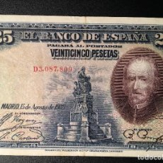 Billetes españoles: BILLETE 25 PESETAS 1928. Lote 83855964
