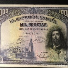 Billetes españoles: BILLETE 1000 PESETAS 1928. Lote 83962996