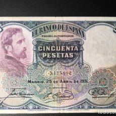 Billetes españoles: BILLETE 50 PESETAS 1931. Lote 83963396