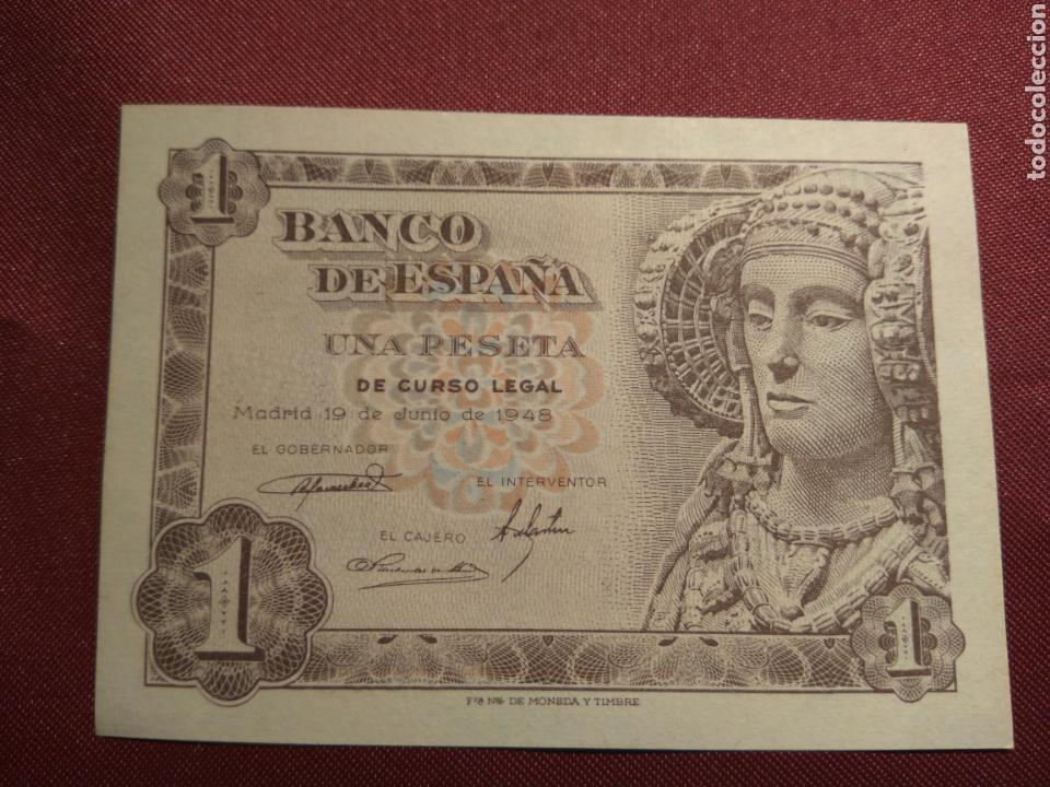 Billetes españoles: BILLETE UNA PESETA 1948 SC - Foto 2 - 78252949