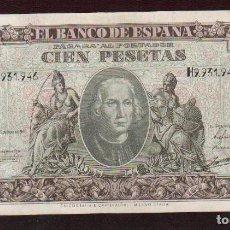 Billetes españoles: PRECIOSO BILLETE DE 100 PTS DEL 9 DE ENERO 1940 EL DE LAS FOTOS VER TODOS MIS LOTES DE BILLETES. Lote 85106052