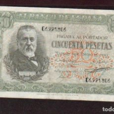 Billetes españoles: PRECIOSO BILLETE DE 50 PTS DEL 9 DE ENERO DE 1940 EBC EL DE LAS FOTOS VER TODOS MIS LOTES DE BILLETE. Lote 85106240