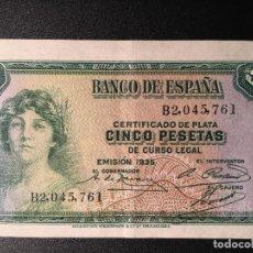 Billetes españoles: BILLETE 5 PESETAS 1935. BANCO DE ESPAÑA. Lote 85553384