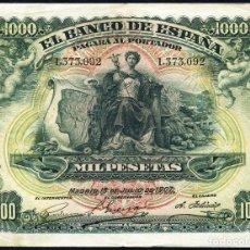 Billetes españoles: IMPRESIONANTES 1000 PTAS JULIO 1907 - MINIMO EBC - OCASION. Lote 86257292