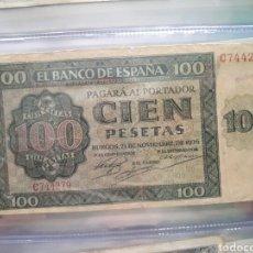 Billetes españoles: BILLETE 100 PESETAS 1936 BURGOS. Lote 86687848