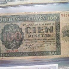 Billetes españoles: BILLETE 100 PESETAS 1936 BURGOS. Lote 86687879
