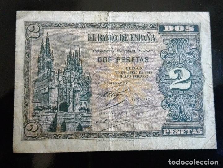 2 PESETAS ABRIL 1938 (Numismática - Notafilia - Billetes Españoles)