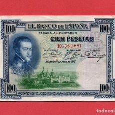 Billetes españoles: BILLETE ANTIGUO ESPAÑA 100 PESETAS AÑO 1925 . Lote 87175896