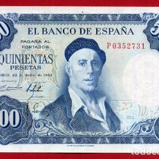 Billetes españoles: BILLETE 500 PESETAS 1954 , PLANCHA , SERIE P , ORIGINAL , T731. Lote 87247748