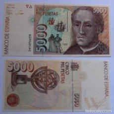 Billetes españoles: BILLETE 5000 PESETAS 1992 CRISTOBAL COLON. Lote 87458972