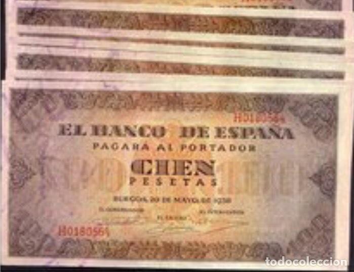 100 PESETAS DE 1938 BURGOS MUY BONITOS REF 88549 (Numismática - Notafilia - Billetes Españoles)