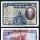 Billetes españoles: 25 PESETAS DE 1928 SELLO FRANQUISTA SALUDO A FRANCO ¡ARRIBA ESPAÑA! Y BUSTO DE FRANCO VIOLETA - Nº6. Lote 162650360