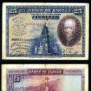 Billetes españoles: 25 PESETAS DE 1928 SELLO FRANQUISTA SALUDO A FRANCO ¡ARRIBA ESPAÑA! Y BUSTO DE FRANCO VIOLETA - Nº26. Lote 146133586